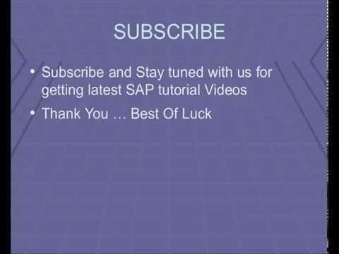 sap fi module tutorial