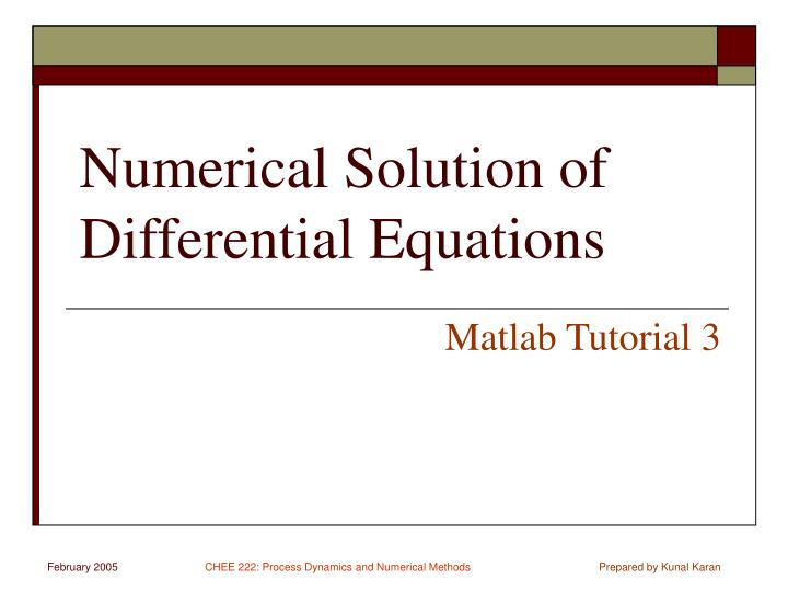 maple tutorial differential equations