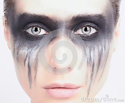 female grim reaper makeup tutorial