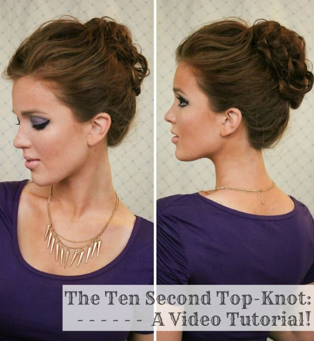 top knot hair tutorial