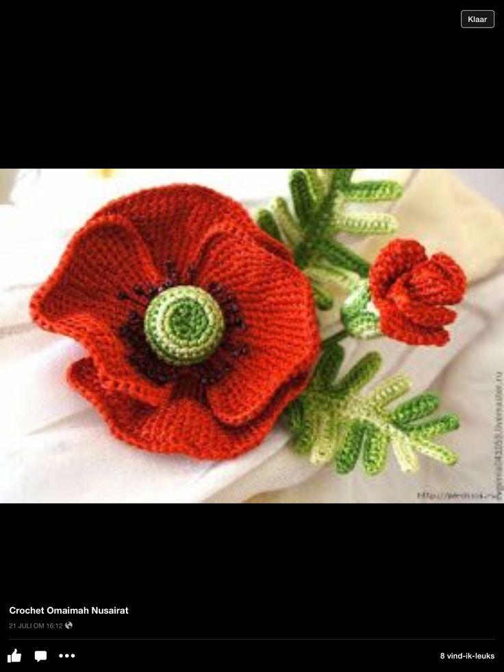 crochet poppy tutorial pattern
