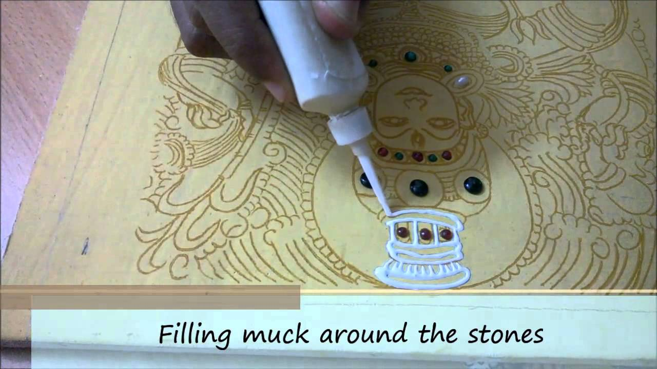 kerala mural painting tutorial youtube