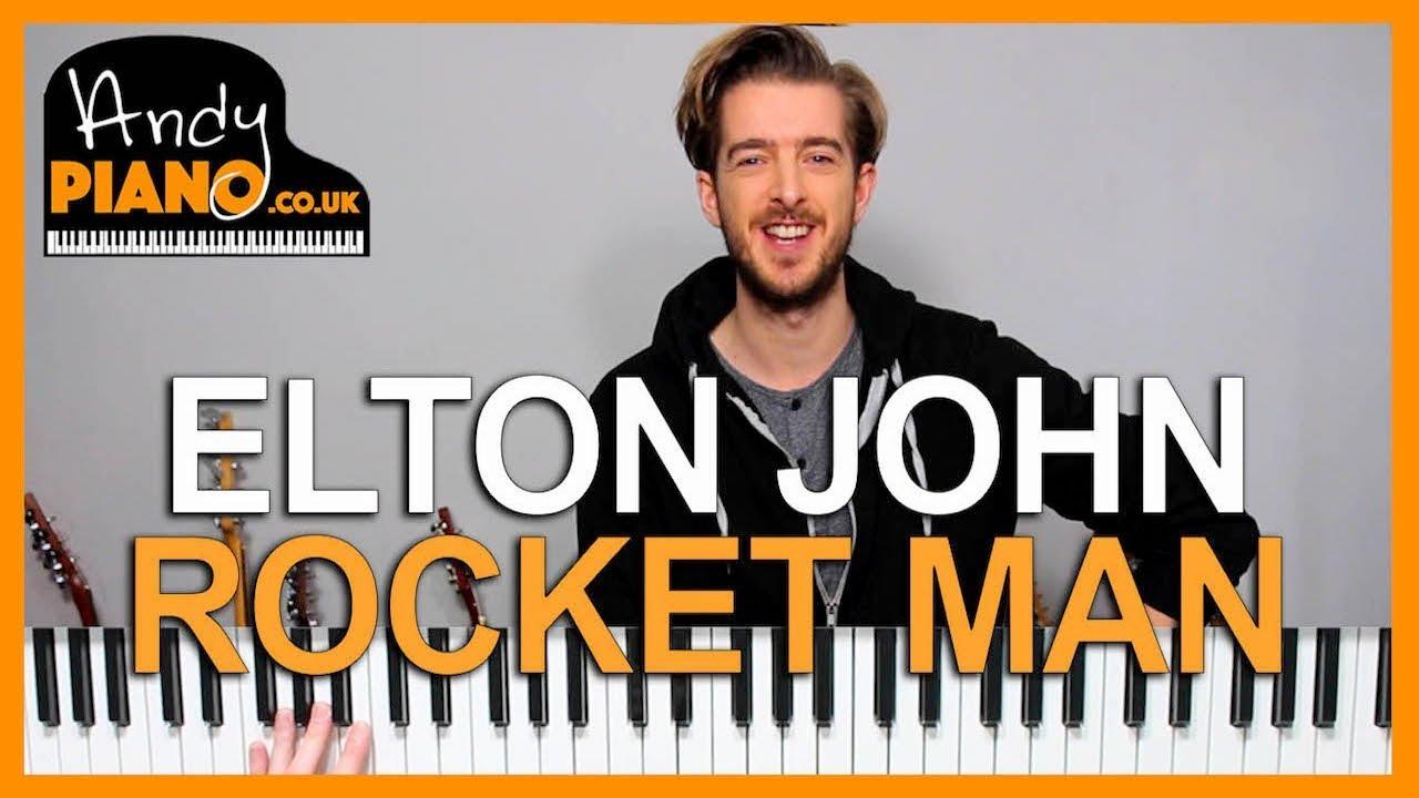 rocket man piano tutorial