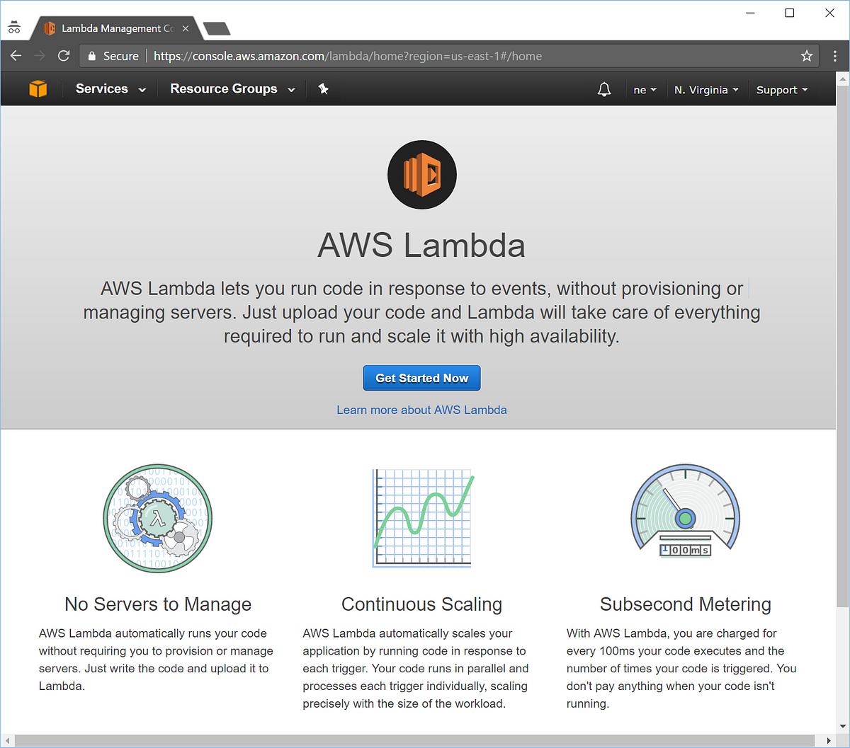 amazon aws lambda tutorial