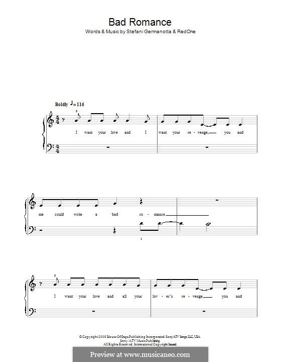 bad romance tutorial piano