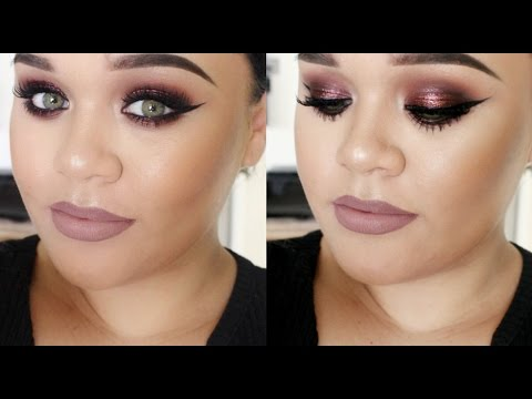 maroon eye makeup tutorial