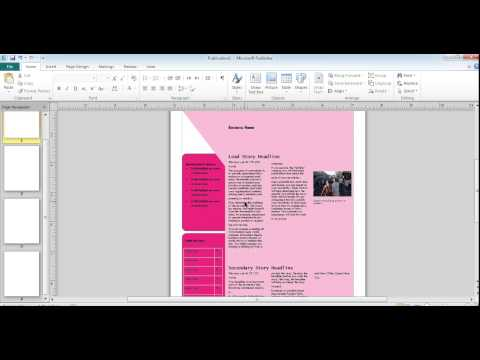 microsoft publisher 2010 tutorial for beginners
