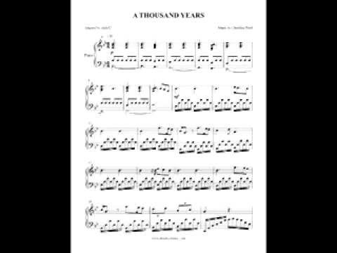a thousand years piano tutorial