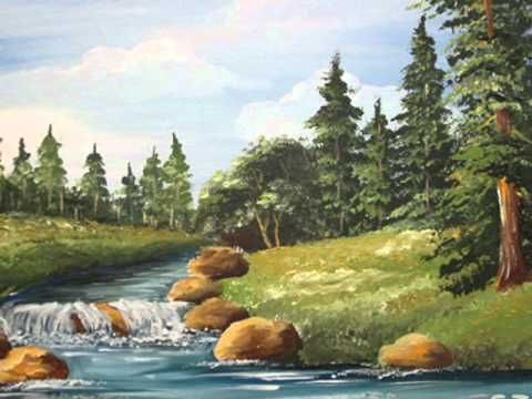 easy landscape painting tutorial