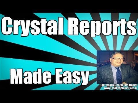 crystal reports 9 tutorial