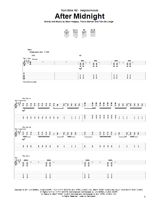i miss you blink 182 guitar tutorial