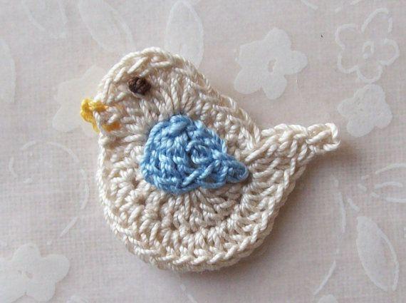 crochet bird applique tutorial