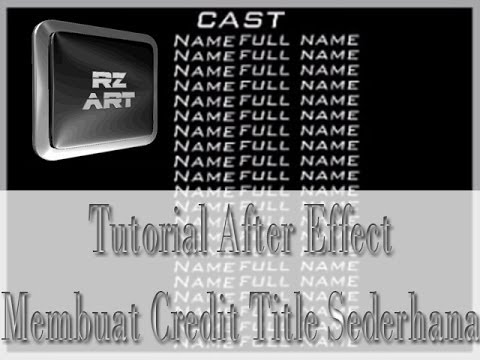 adobe after effects title tutorial