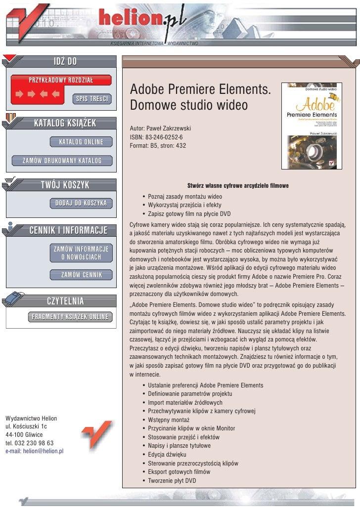 adobe premiere elements tutorial video