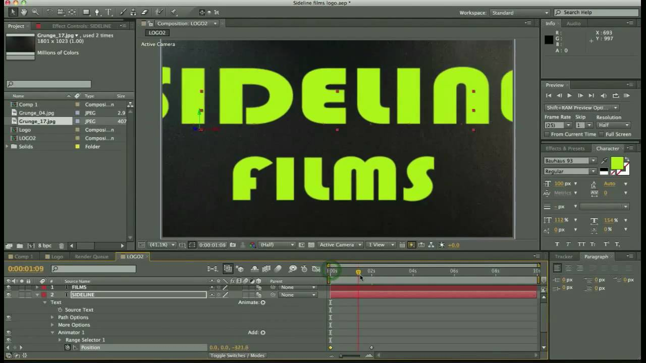 after effects title tutorial
