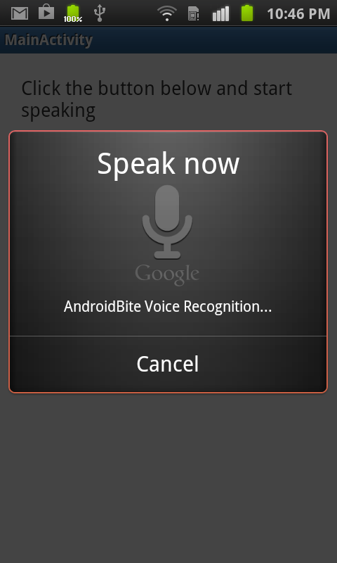 android voice recognition tutorial