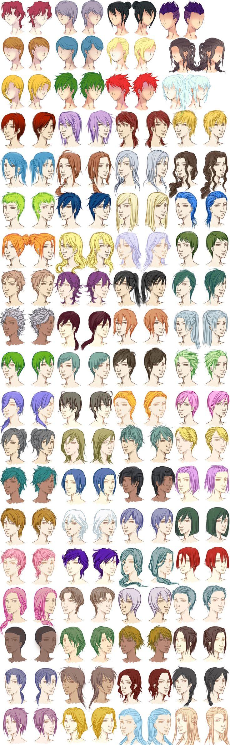 anime boy hair tutorial