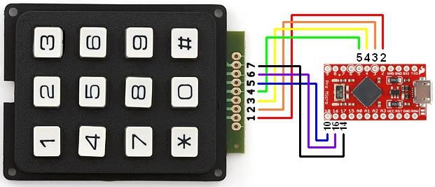 arduino 4x4 keypad tutorial