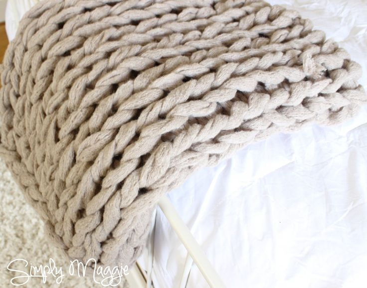 arm knit blanket picture tutorial