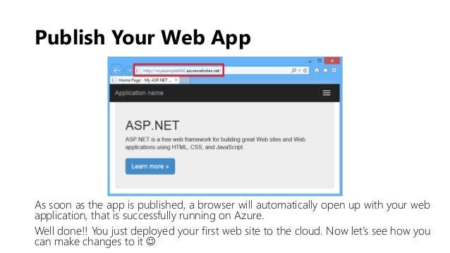 asp net azure tutorial