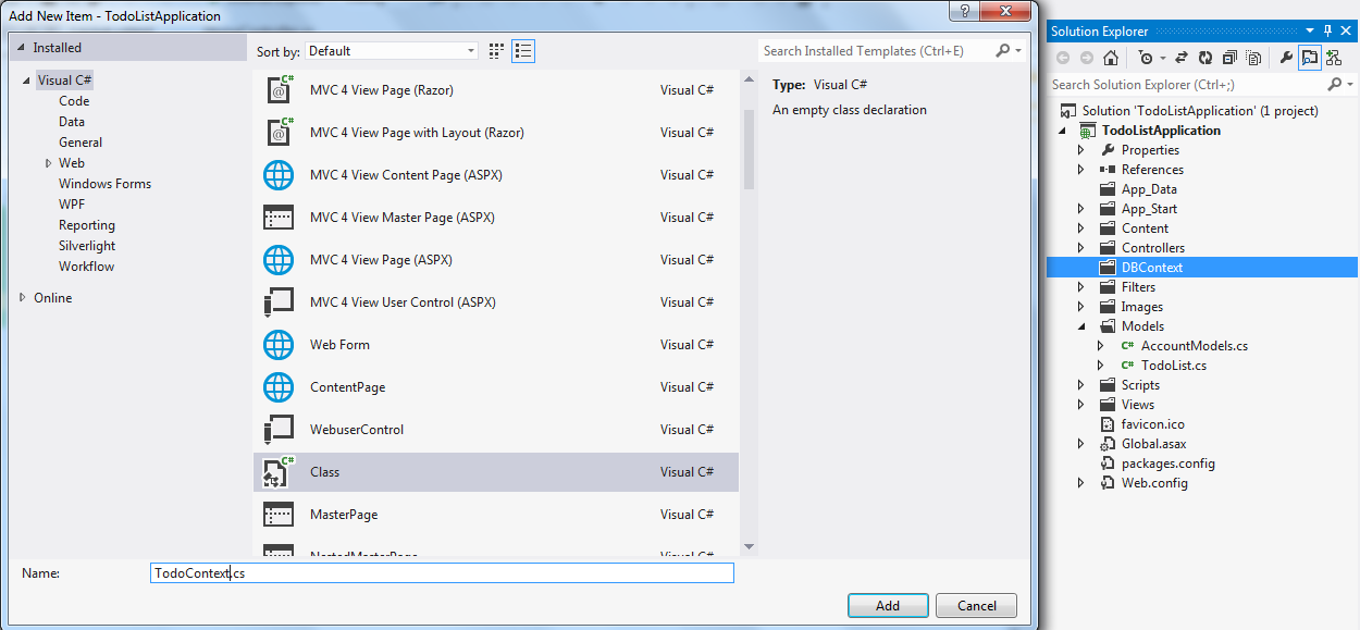 asp net mvc entity framework code first tutorial