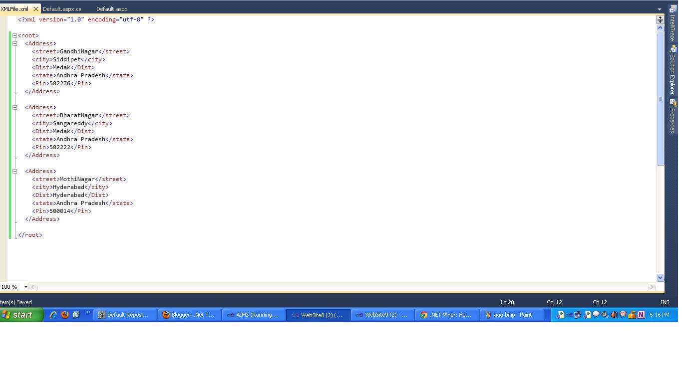 asp net website tutorial visual studio 2010