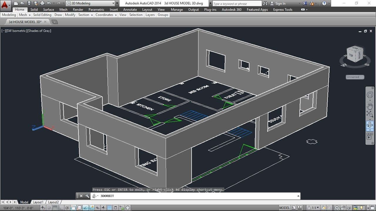 autocad house design tutorial
