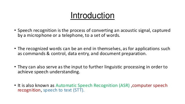 automatic speech recognition tutorial