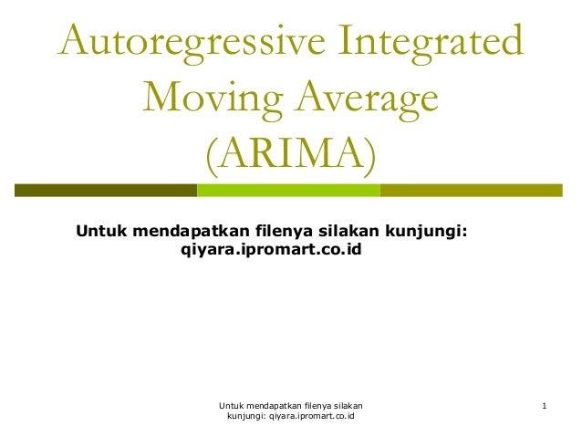 autoregressive integrated moving average tutorial