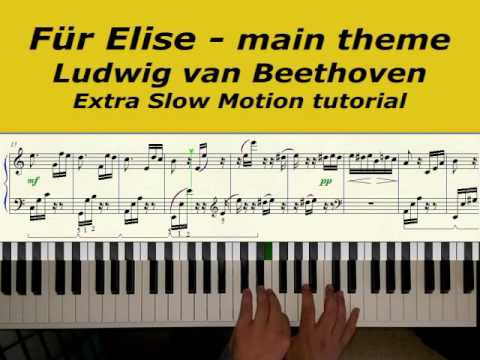 fur elise slow tutorial