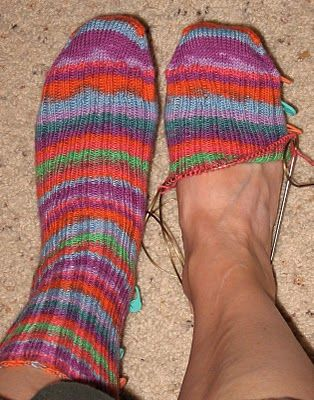 grafting sock toes tutorial