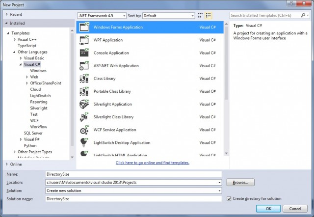 visual c# windows forms application tutorial