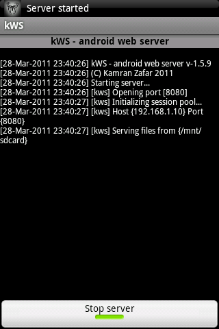 android web server tutorial