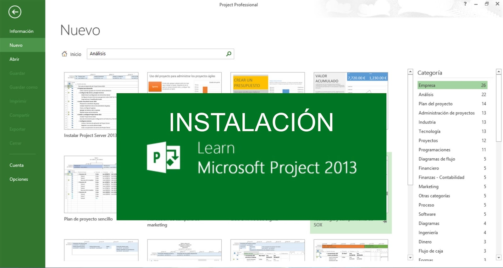 ms project 2013 video tutorial