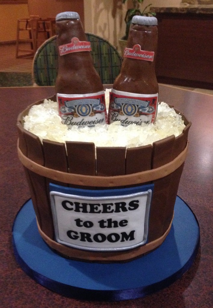 beer bucket cake tutorial