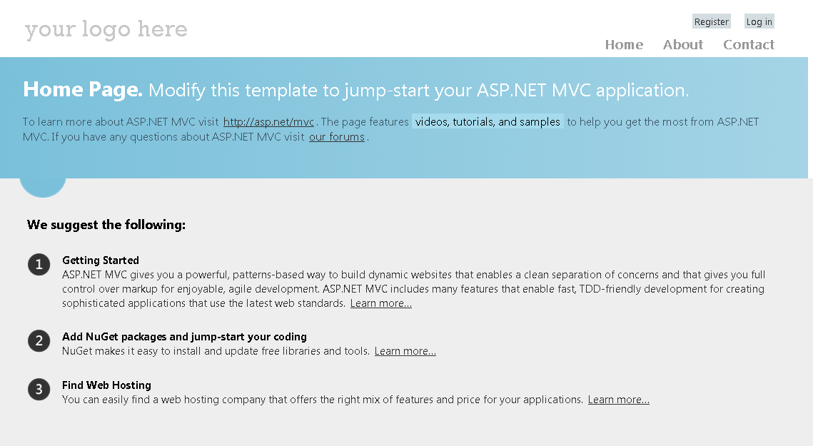 asp net mvc 2 tutorial step by step