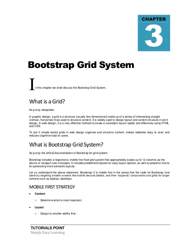bootstrap css grid tutorial
