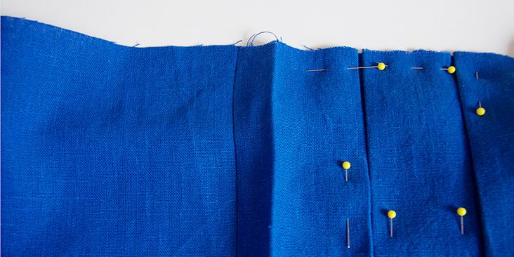 box pleat dress tutorial