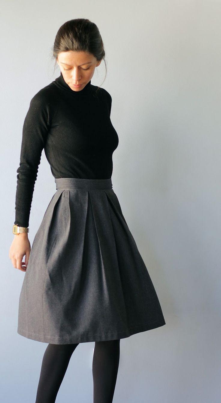 box pleated skirt tutorial