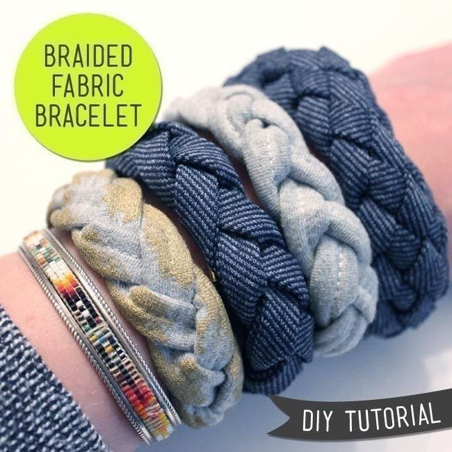 braided fabric necklace tutorial