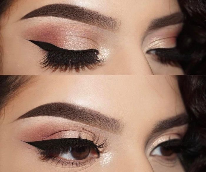 brown eyeshadow tutorial for green eyes