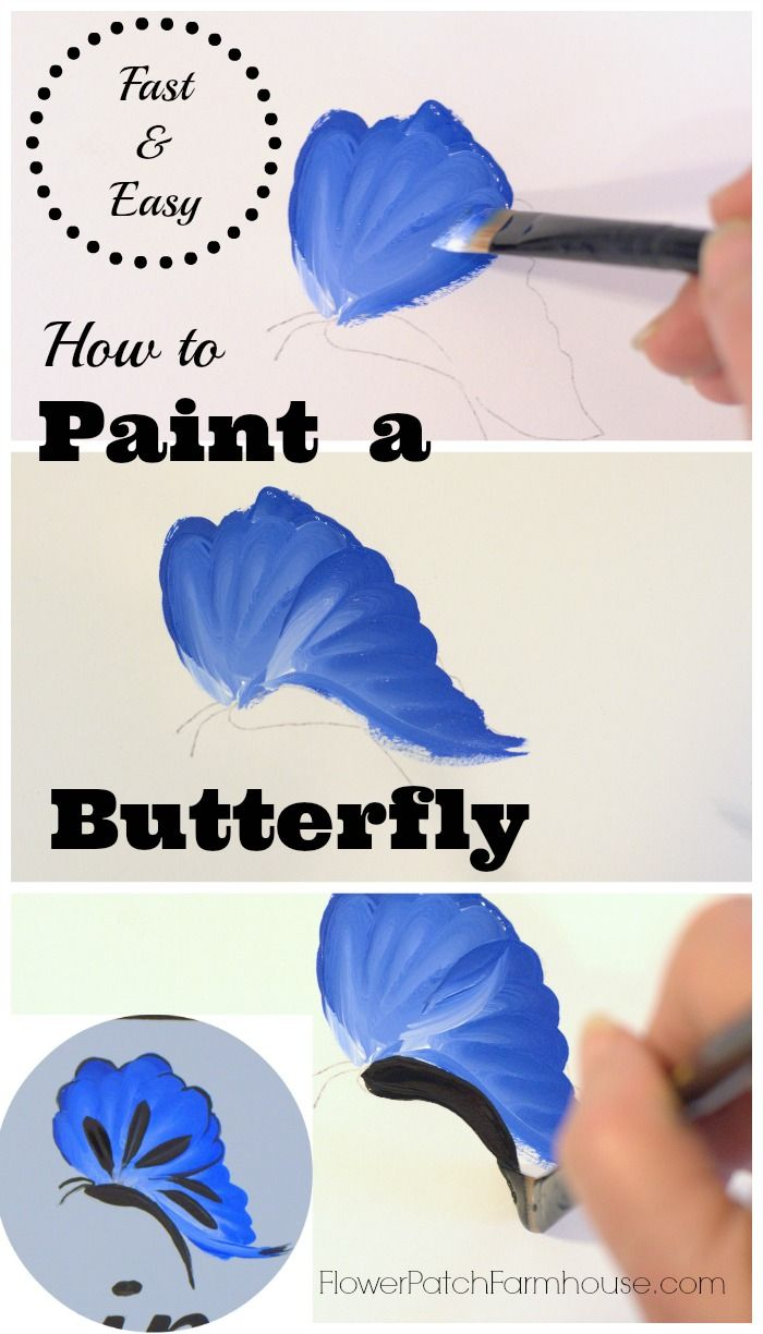 butterfly acrylic painting tutorial