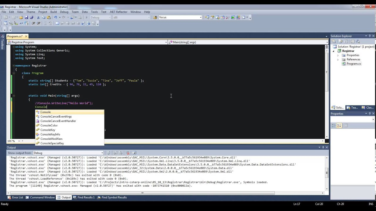 c# console application tutorial