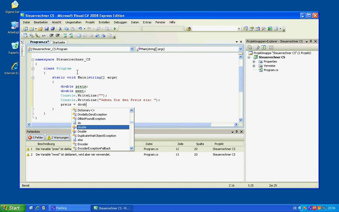 visual basic c# tutorial