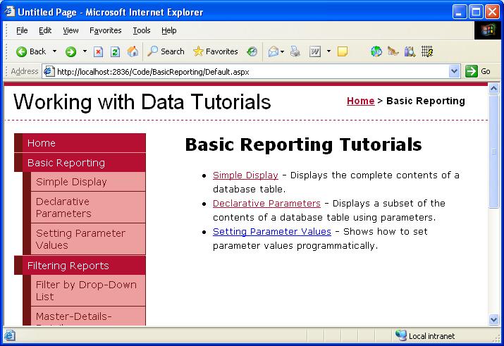 asp net basic tutorial