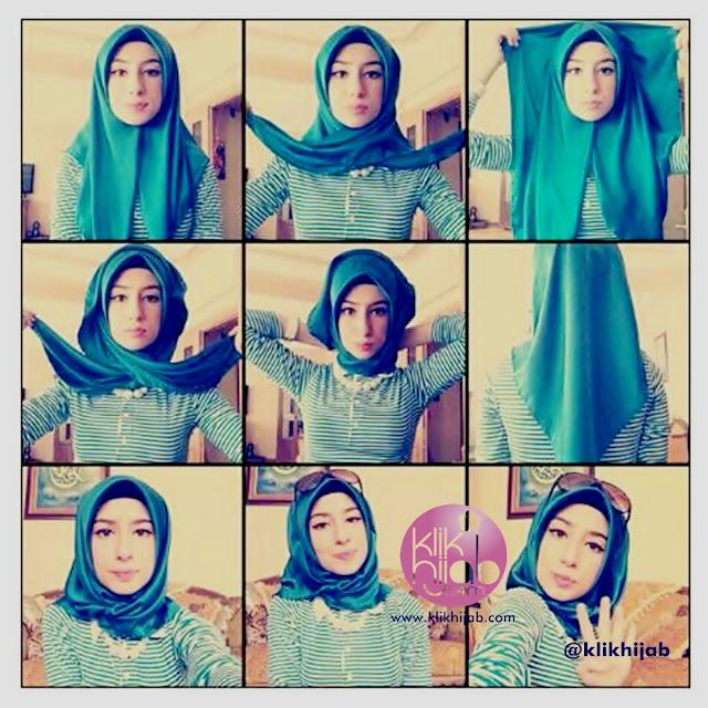 tutorial hijab pashmina satin