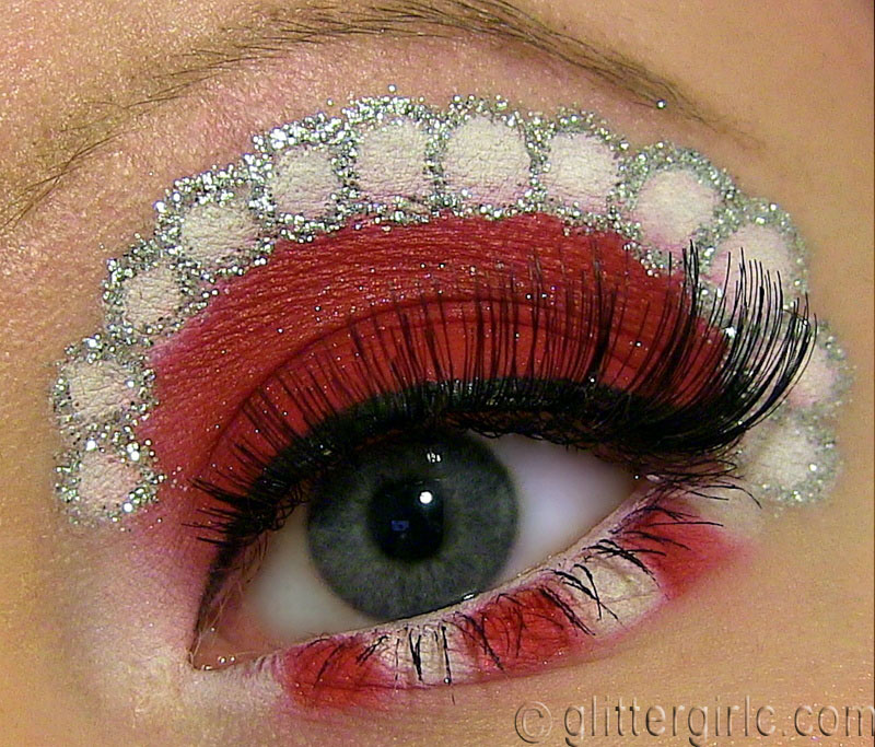 candy cane makeup tutorial