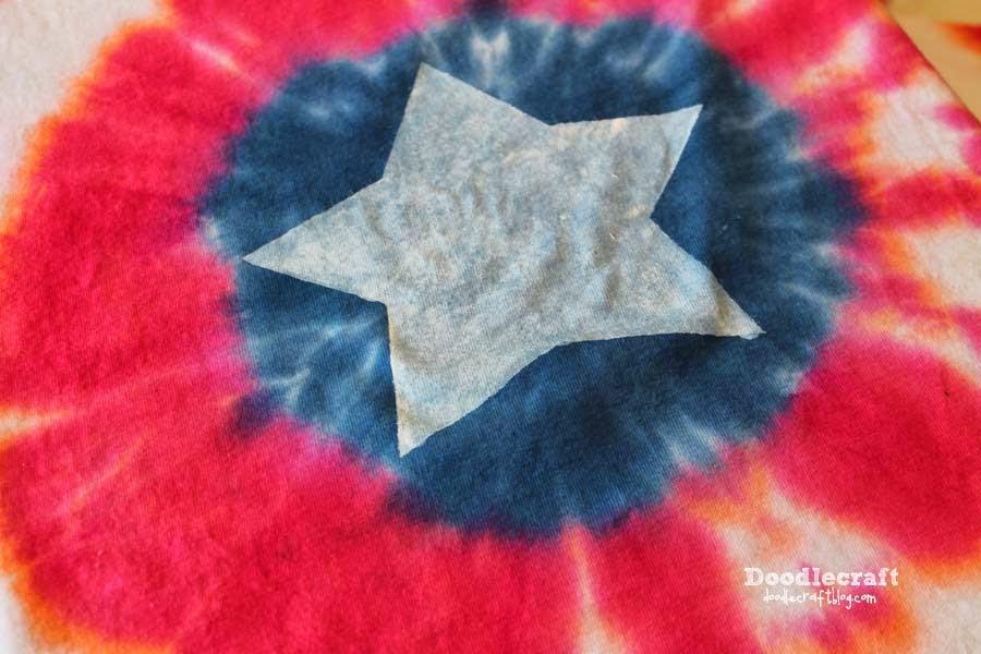 captain america tie dye tutorial