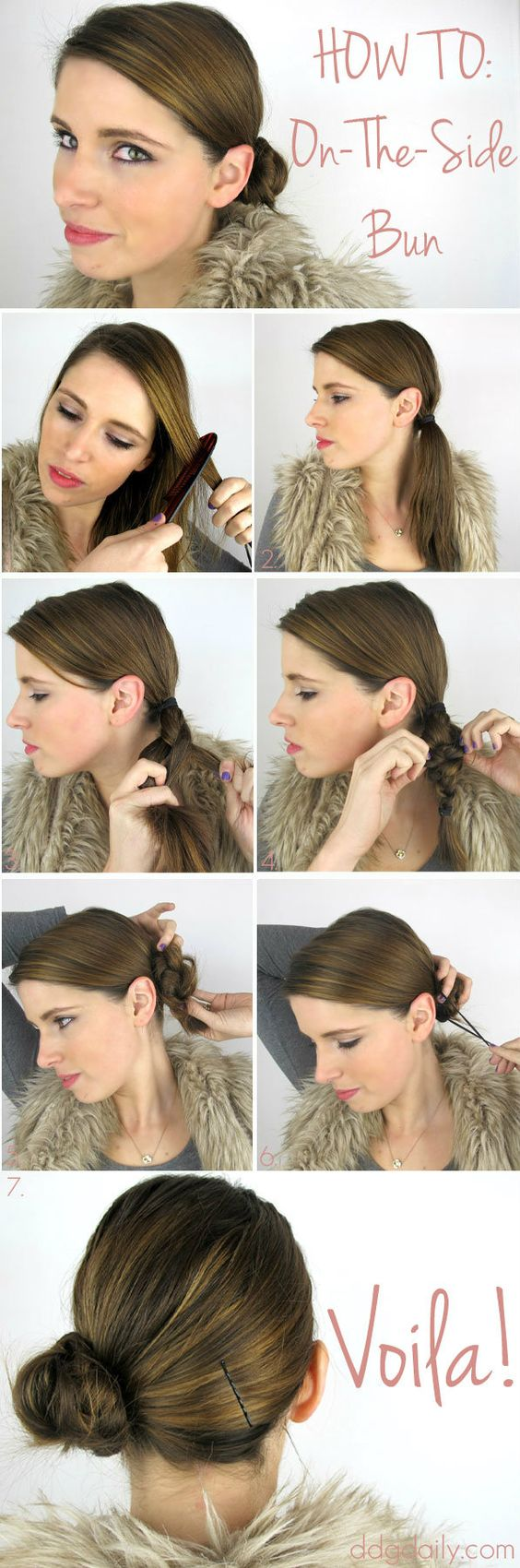 low side bun tutorial