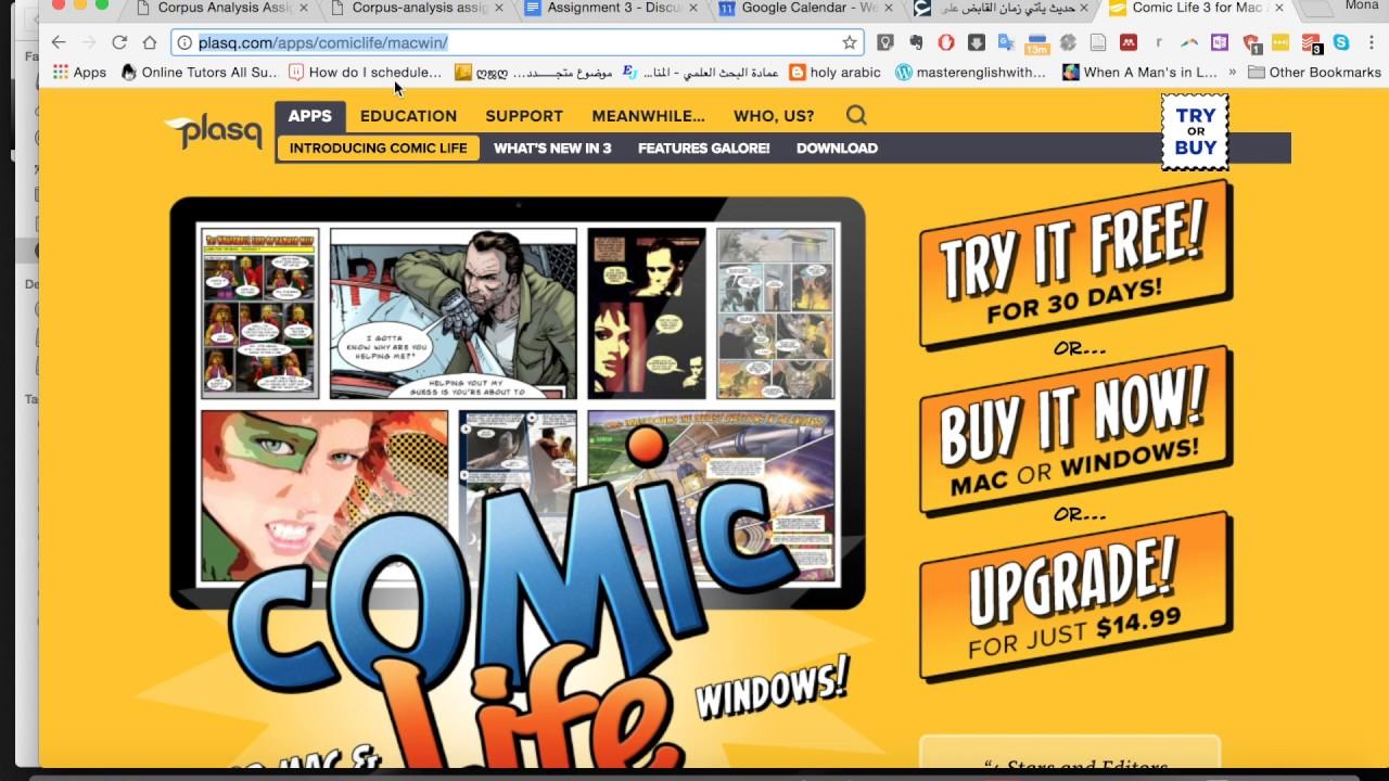 comic life tutorial video